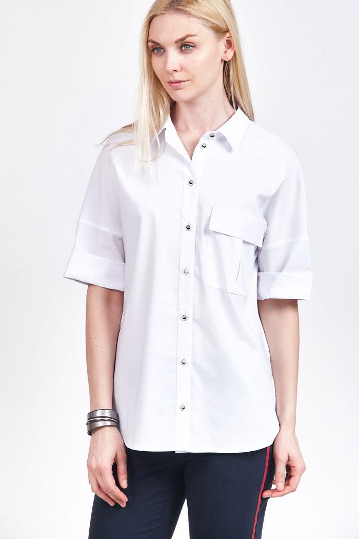 блузка хлопок с коротким рукавом